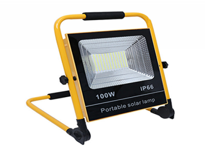 Portable solar rechargeable led flood light