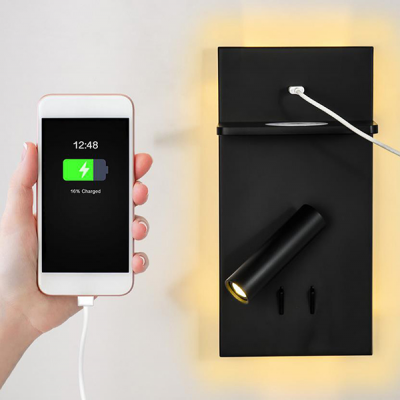 Wireless Charger LED wall light